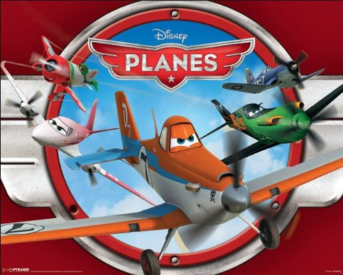 Planes (Red) Disney/Pixar Movie Poster