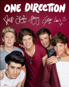 One Direction (Maroon) - Mini Poster - 40cm x 50cm
