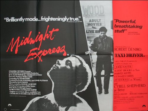 Midnight Express / Taxi Driver Movie Poster