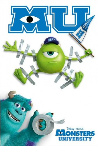Monsters University Tapes Maxi Poster, Multi-Colour