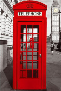 London (Phonebox) - Maxi Poster - 61cm x 91.5cm