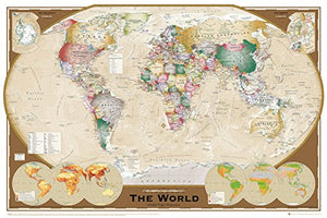 World Map (Tripel Projection) - Maxi Poster - 61cm x 91.5cm