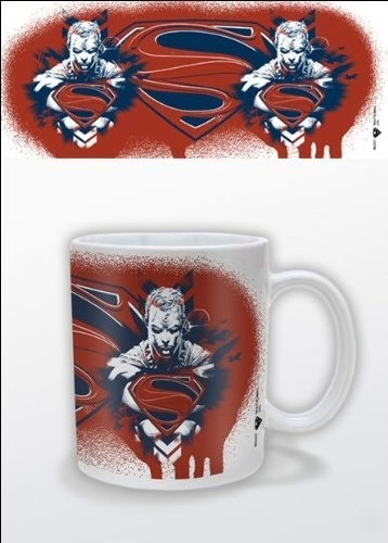 Superman Man Of Steel 1-Piece Ceramic Mug, Red/ White/ Blue