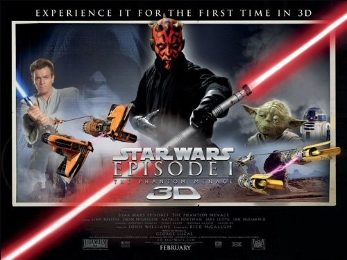 Star Wars Episode 1 3D (The Phantom Menace) Movie Poster