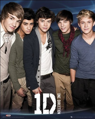 One Direction (Blue) - Mini Poster - 40cm x 50cm