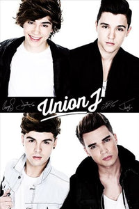 Union J Black and White Maxi Poster, Multi-Colour