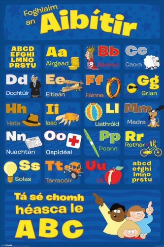 Learn Your Alphabet Irish Maxi Poster, Multi-Colour