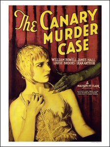 The Canary Murder Case Art Print Poster
