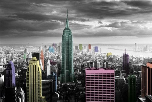 New York Colour Splash Maxi Poster, Multi-Colour