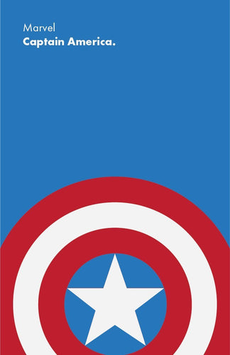 MoviePostersDirect Marvel Captain America Minimalist Poster