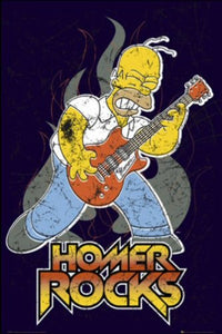 Simpsons - Lets Rock - Maxi Poster - 61 cm x 91.5 cm