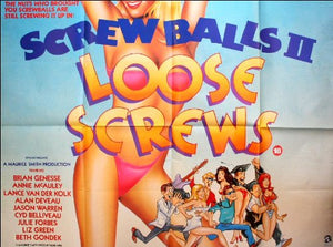Screwballs II: Loose Screws Movie Poster