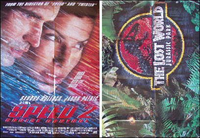 Speed 2 / Lost World Original 2 Sided Movie Poster