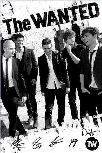 The Wanted (B&W) - Maxi Poster - 61cm x 91.5cm