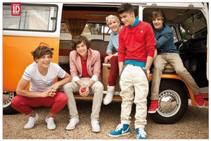 Music Maxi Poster featuring the One Direction Boys in a camper (5 x 61 cm)