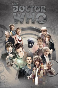 "Pyramid International ""Doctors Through Time Doctor Who"" Maxi Poster, Multi-Colour, 61 x 91.5 x 1.3 cm"
