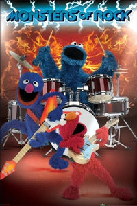 Sesame Street (Monsters Of Rock) - Maxi Poster - 61cm x 91.5cm