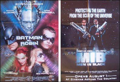 Men in Black / Batman & Robin Original 2 Sided