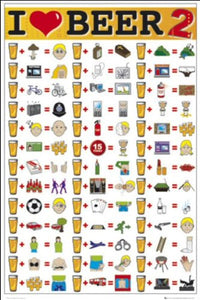 I Love Beer 2 - Maxi Poster - 61 cm x 91.5 cm