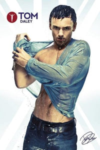 Tom Daley Wet Maxi Poster, Multi-Colour