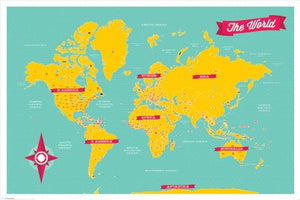 The World Maxi Poster, Multi-Colour