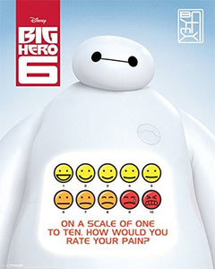 "Pyramid International Rate Your Pain Big Hero 6"" Mini Poster, Plastic/Glass, Multi-Colour, 40 x 50 x 1.3 cm"