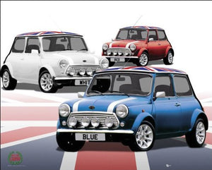 Minis (Union Flag) - Mini Poster - 40cm x 50cm