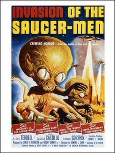 Invasion of the Saucer Men Art Print Poster