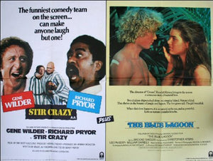 Stir Crazy / The Blue Lagoon Movie Poster