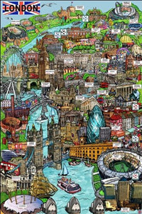 London (Sketch) - Maxi Poster - 61cm x 91.5cm