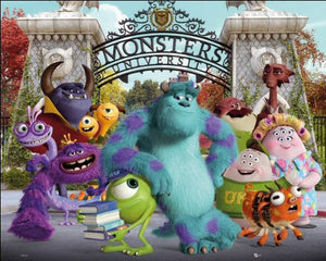 Monsters University Cast Mini Poster 40x50cm