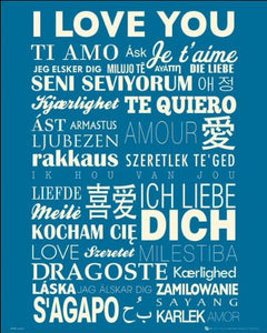 I Love You Languages Mini Poster 40x50cm