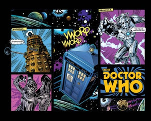 Pyramid International Comic Layout Doctor Who Mini Poster, Plastic/Glass, Multi-Colour, 40 x 50 x 1.3 cm