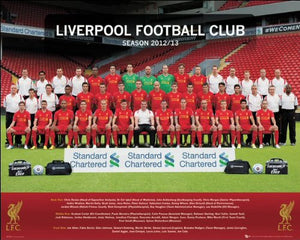 Liverpool (Team Photo 12/13) - Mini Poster - 40cm x 50cm