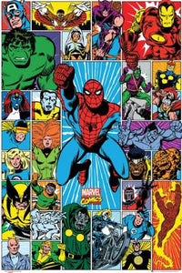 Marvel Character Grid Maxi Poster 61x91.5cm