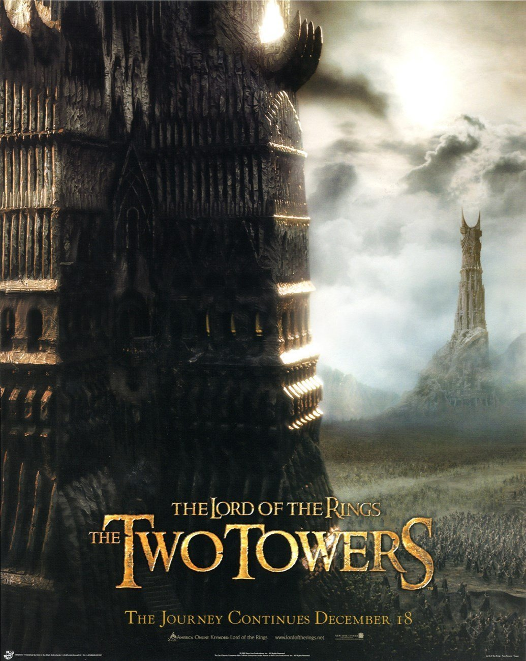 The Two Towers (14x20 inches) Original Mini Poster