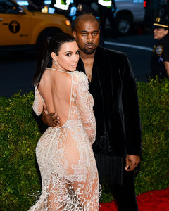Kim and Kanye West Photograph (25cm x 20cm)