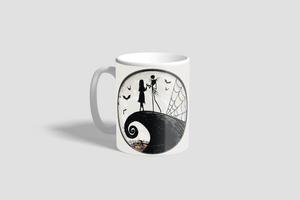 Jack and Sally Silhouette Mug