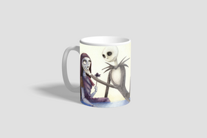 Jack and Sally Sketch Mug