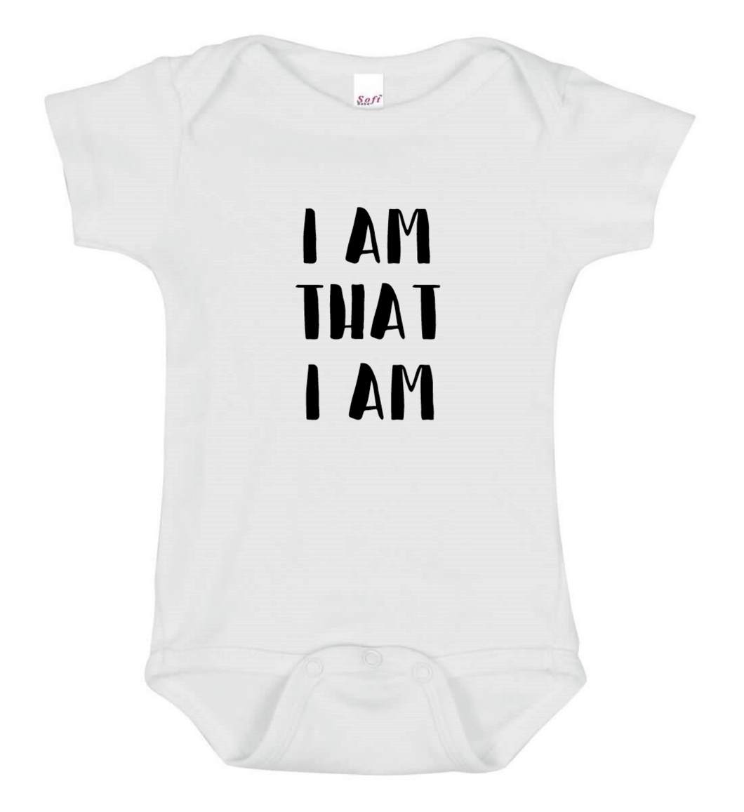 I am that I am Onesie - Goo Goo Blah Blah