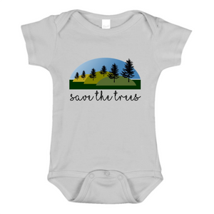 Save The Trees Baby One Piece Bodysuit