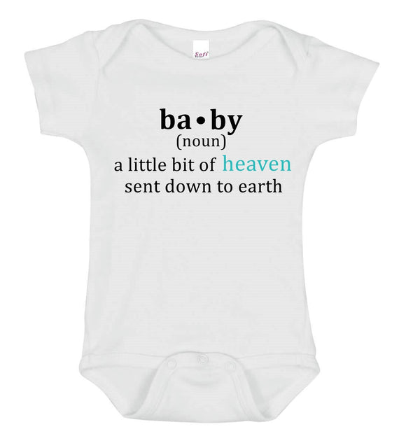 A Little Bit Of Heaven Baby One Piece Bodysuit - Goo Goo Blah Blah