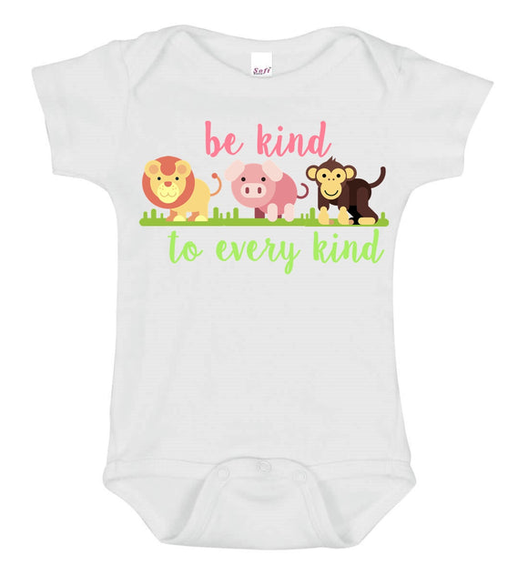 Be Kind To Every Kind Baby One Piece Bodysuit