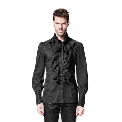 Ruffled Dress Shirt - Goth Gothic - Morticia's Desire