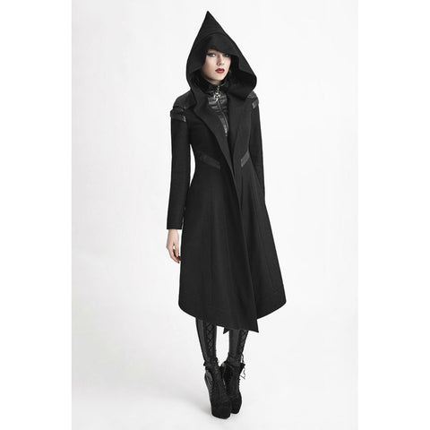 Hooded Long Sleeve Coat - Goth Gothic - Morticia's Desire