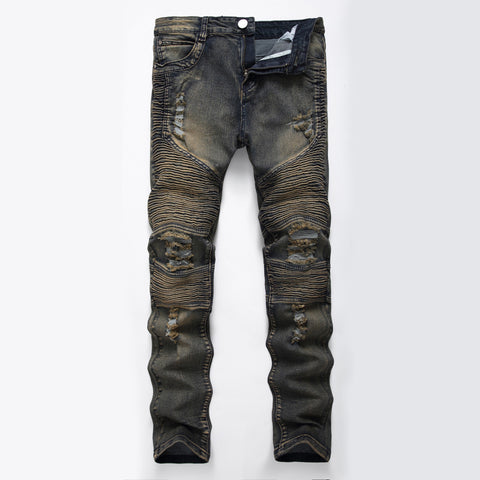 Distressed Jeans Pants - Punk - Morticia's Desire
