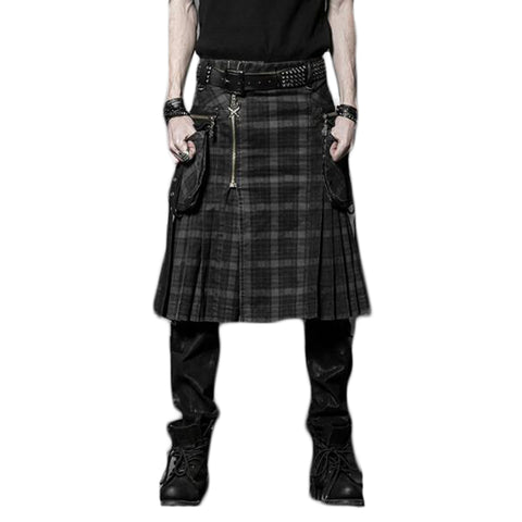 Black Cotton Kilt - Morticia's Desire