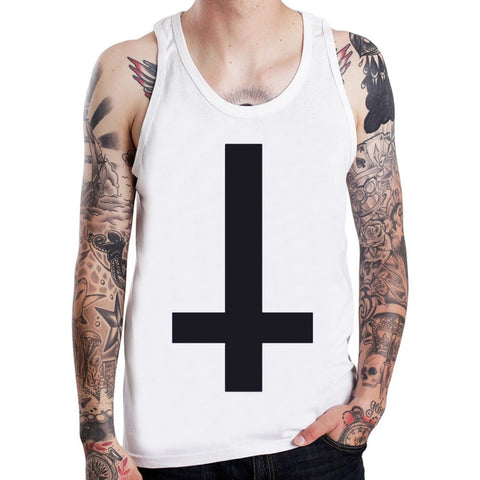Inverted Cross T-shirt - Goth Punk Rock Star - Morticia's Desire