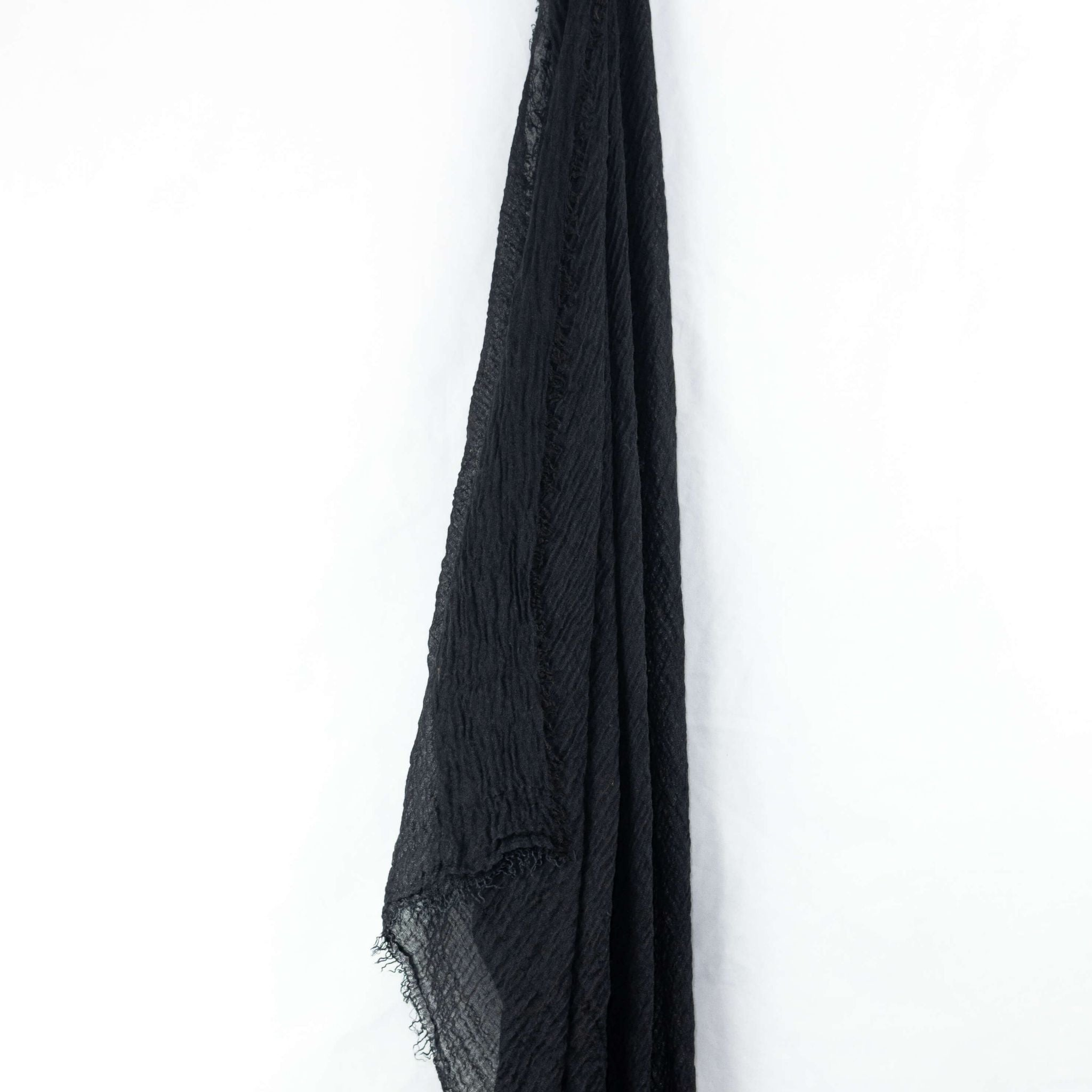 Black Cotton Crinkle Hijab
