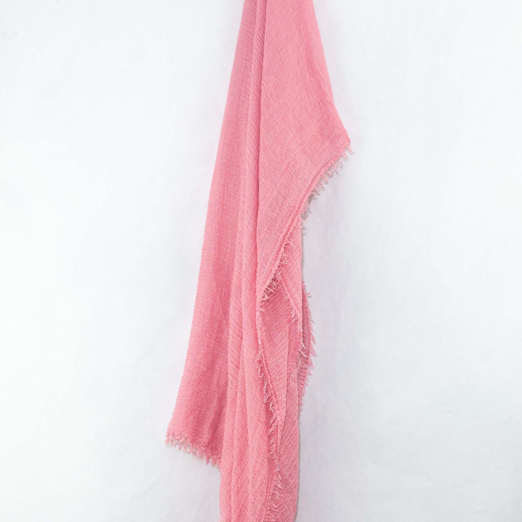 Bubble Gum Pink Cotton Crinkle Hijab